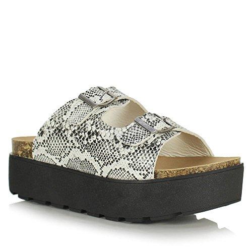 BucketFeet  Pescao W, Sneakers Basses femme Noir - Noir/blanc