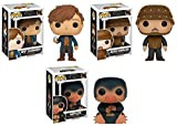 Funko POP! Fantastic Beasts And Where To Find Them: Newt Scamander + Jacob Kowalski + Niffler - Stylized Vinyl Figure Set NEW