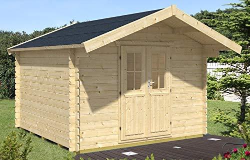 Skan Holz Blockbohlenhaus Faro Größe 2, 300 x 250 cm