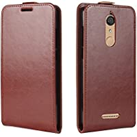 CaseFirst Wiko View Wallet Leather Case with Protective Durable Back Shell Shell Folio flip Cell Phone Cover Bag with Card Slots,Cash Pocket,Brown