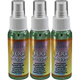 Three 2oz Bottles of Birdz Eyewear Anti Fog Spray & Defogger for Glasses Goggles Swimming Paintball and Diving Accessories - Safe on All Lenses
