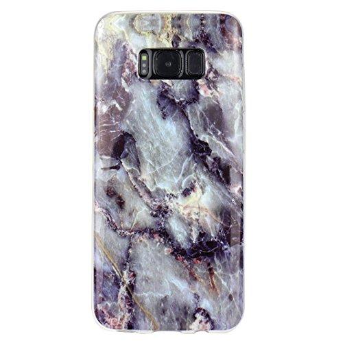 Preisvergleich Produktbild Hülle für Samsung Galaxy S8, Asnlove TPU Silikon Backcover Case Handy Schutzhülle Cover Protective Case TPU Silicone Case IMD Technologie Marmor Design für Samsung Galaxy S8