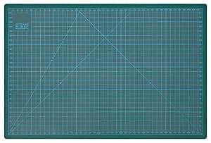Wedo 79145 Schneideunterlage Cutting Mat (selbstschließende Oberfläche, 45 x 30 x 0,3 cm CM 45) grün