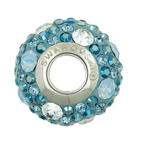Genuine branello di fascino da Swarovski -Metallic Blu - Adatto Pandora Bracciali - Ideale regalo per donne e ragazze - è disponibile in confezione regalo