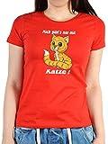 Witziges Sprüche Fun Damen T-Shirt :Mich gibt s nur mit Katze!