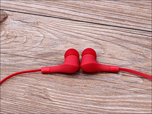 Suppression du bruit écouteurs intra-auriculaires sport rouge Casque écouteurs Mains libres écouteurs intra-auriculaires 3,5mm W/appel mains libres Mic. Compatible avec