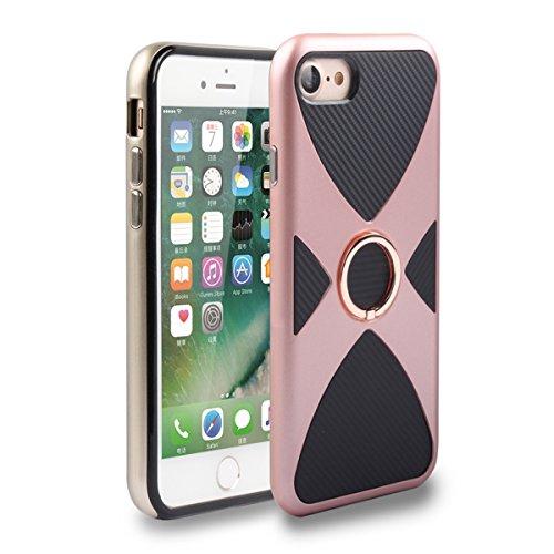 iPhone6/6S Hülle mit Ring Ständer,EVERGREENBUYING Abnehmbare Hybrid Schein IPHONE 6 / 6S Tasche Schutzhülle Plastik Material Case Etui für iPhone 6 / 6s 4.7 inch Rose Gold Rose Gold