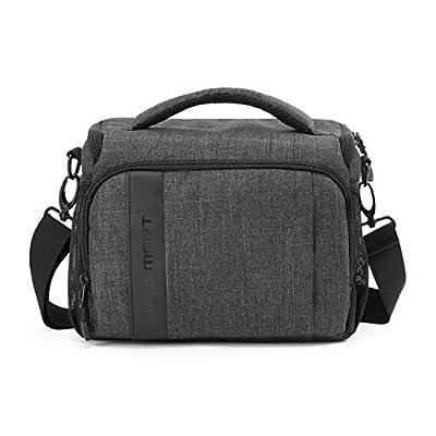 BAGSMART Gepolsterte Kameratasche DSLR Kamera und Zubehör Fototasche mit Regenschutzhülle