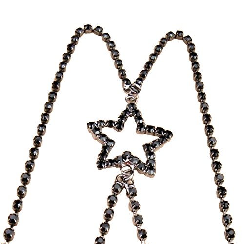 TININNA Bretelles Croisées Transparentes étoile à Cinq Branches Bande Reglable Bandouliere Pour Soutien-gorge Noir