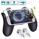 HEYSTOP PUBG Mobile Game Controller [Neuestes Upgrade], Tragbares Gamepad mit Lüfter and Detachable Alloy Joysticks, L1R1 Handyspiel-Auslöser Sensitive Schieß- und Zieltasten für Android...