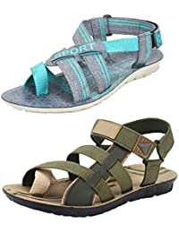Earton Men Combo Pack of 5 (Sandals & Floaters)