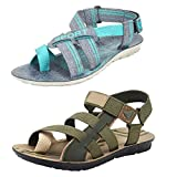 #10: Super Men Combo Pack of 2 Sandals & Floaters