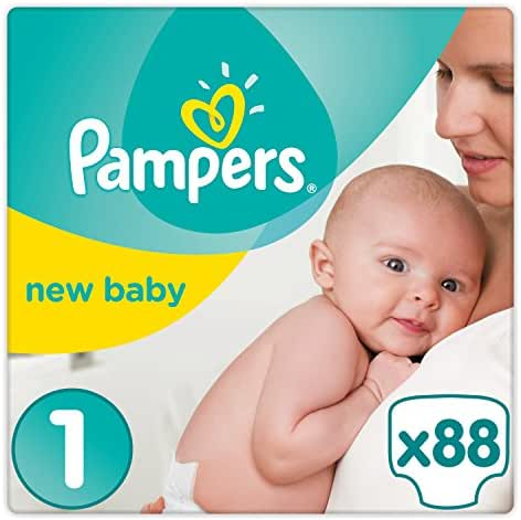 Pampers - New Baby - Couches Taille 1 ( 2-5 kg/Nouveau-Né) - Pack Small - (x88 couches)