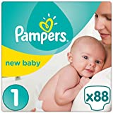 Pampers - New Baby - Couches Taille 1 ( 2-5 kg) - Pack Géant - Lot de 2 (x88 couches)