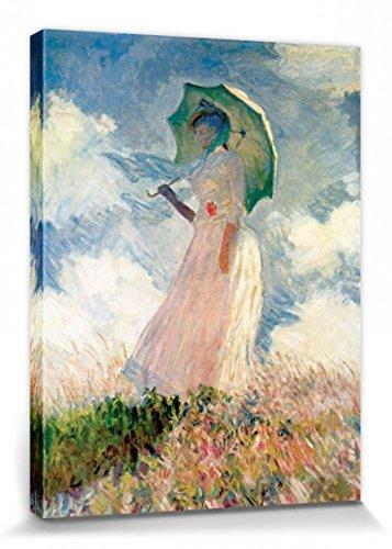 1art1 56749 Claude Monet - Frau Mit Sonnenschirm 1886 Poster Leinwandbild Auf Keilrahmen 80 x 60 cm