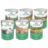 Müllers Naturhof | Mix | 6 x 400 g | Nassfutter für Alle Hunderassen | getreidefrei und glutenfrei | mit Gartengemüse und Wiesenkräutern | naturnahe Rezeptur mit 65% Fleisch