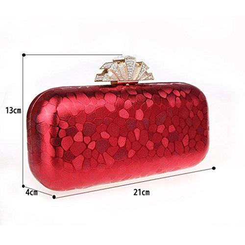 Il nuovo sacchetto del sacchetto di banchetto della sposa del cheongsam della borsa della borsa di sera di modo di diamante della corona hasp mano ( Colore : Nero ) Nero