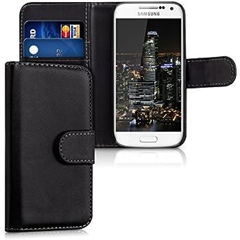 mumbi PREMIUM Leder Flip Case Samsung Galaxy S4 mini