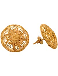 Senco Gold Aura Collection 22k Yellow Gold Stud Earrings
