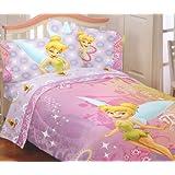 Disney Fairies Tinkerbell Whimsy de Campanilla 2juego de sábana Hojas, Diseño de Campanilla