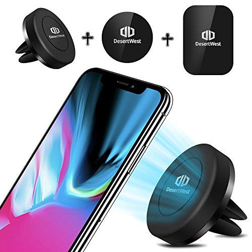 DesertWest Handyhalterung Auto Magnet Lüftung KFZ Halterung für iPhone X/8/7/7 Plus, Google Pixel, LG G6, Huawei P9/P9 Plus, Samsung Galaxy S8 S7 S6 und mehr