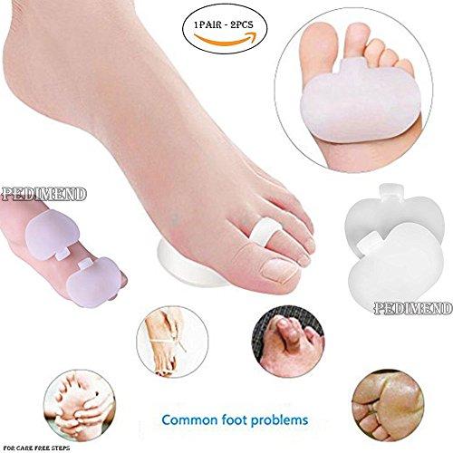 pedimendtm Silikon Gel Vorfuß Pad & Zehenspreizer-Mittelfuß Pads-Morton-Neuralgie-Relax Druck Punkte-mildert Spannungen-wiederausrichtung Gelenk-Fuß Impact Kissen-Fuß Pflege -