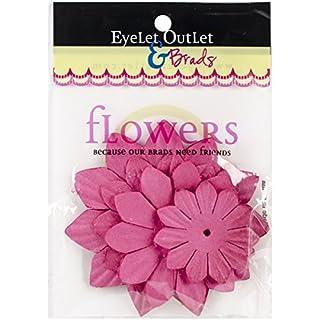 Eyelet Outlet Flowers 40/Pkg-Pink225
