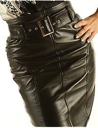 Leather Elegant Pencil High Waisted Luxury Skirt SK16