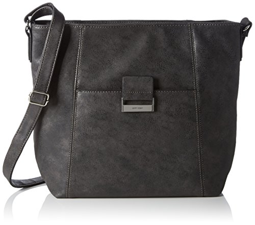 Gerry Weber Damen Be Different V L Schultertaschen, 30x31x12 cm Grau (dark grey 802)