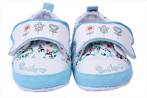Bigood Babyschuh Bequem Klettverschluss Baby Mädchen Lauflernschuhe 13 Blau Blau