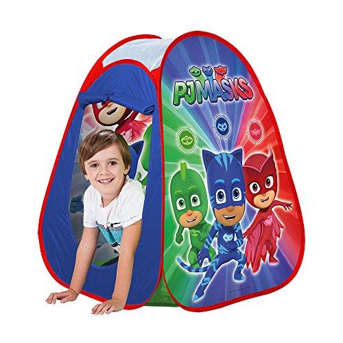 John 77244 Pop Up PJ Masks - Kinderzelt, Wurfzelt, Spielhaus mit Gedrucktem Motiv für Kinder, Spielzelt
