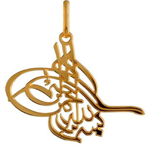 So Chic Joyas - Colgante Firma Osmani Arabe Turco Persa Chapado Oro 750