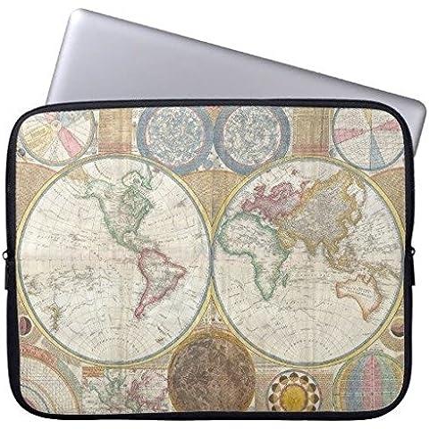 Elettronica Borsa in neoprene Laptop maniche 160602–8 1794 Double Hemisphere Wall Map 15-15.3 inches