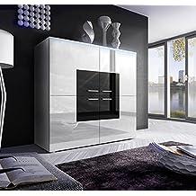 Muebles Bonitos – Aparador Rosalia blanco con negro (1M)