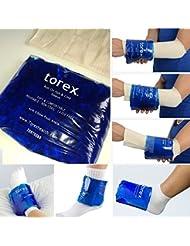 Torex - Bolsa de gel circular para tratamientos frío/calor (reutilizable, Ø 25 - 38 cm, para pies, codos, muñecas)