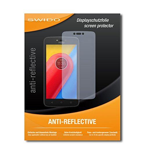 SWIDO Schutzfolie für Lenovo Moto C LTE [2 Stück] Anti-Reflex MATT Entspiegelnd, Hoher Härtegrad, Schutz vor Kratzer/Bildschirmschutz, Bildschirmschutzfolie, Panzerglas-Folie