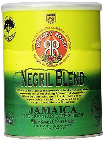 Jamaica Blue Mountain Coffee, Negril Blend Whole Beans Coffee Tin