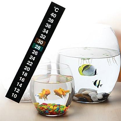 Dairyshop 1/5/10pcs Aquarium Stick-On Thermometer, Fish Tank Digital Temperature Sticker (10pcs) 2
