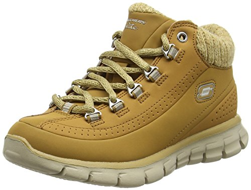 Skechers Synergy Strong Will, Stivaletti da Ragazza', Beige (Wheat Gold), 37