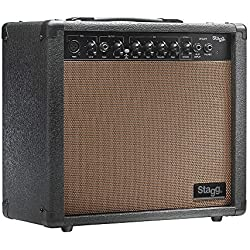 Stagg Stagg - Amplificador para guitarra acústica (20W, 3-Band EQ), color marrón