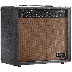 Stagg Stagg - Amplificador para guitarra acústica (20W, 3-Band EQ), color marrón