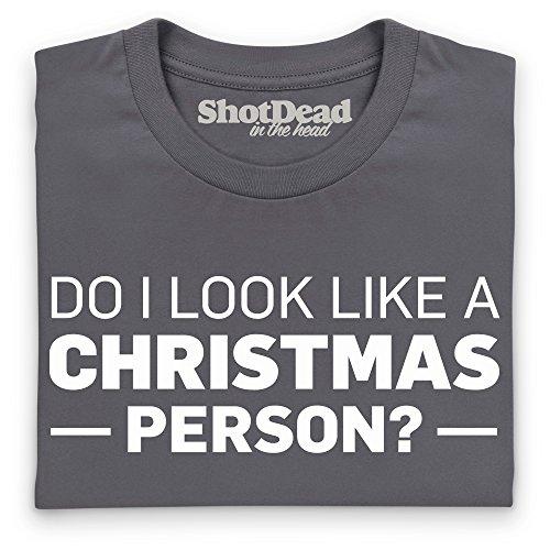 Not A Christmas Person T-Shirt, Herren Anthrazit