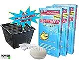 Weitz Algenkiller Protect - 450g - für bis zu 30 000 Liter Teichwasser - POWERHAUS24 Pflanzkorb!
