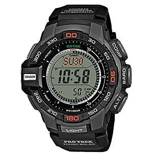 Casio - PRG-270-1E - Pro-Trek - Montre Homme - Quartz Digital - Cadran LCD - Bracelet Résine Noir