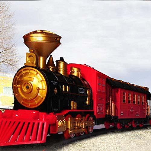 Blue-Yan Juego de Tren de Vapor clásico con Control Remoto eléctrico con...