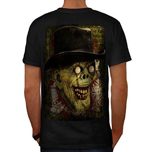 Gentleman Tot Mann Zombie Monster Hut Herren M T-shirt Zurück | (Gentleman Tag Der Toten Maske)