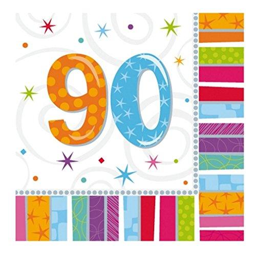 (Servietten 90. Geburtstag Zahl 90 Geburtstagsfeier Geburtstagstisch Party Geburtstagsüberraschung)