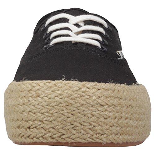 Vans Damen Authentic Platform ESP Sneaker Schwarz (Black Blk)
