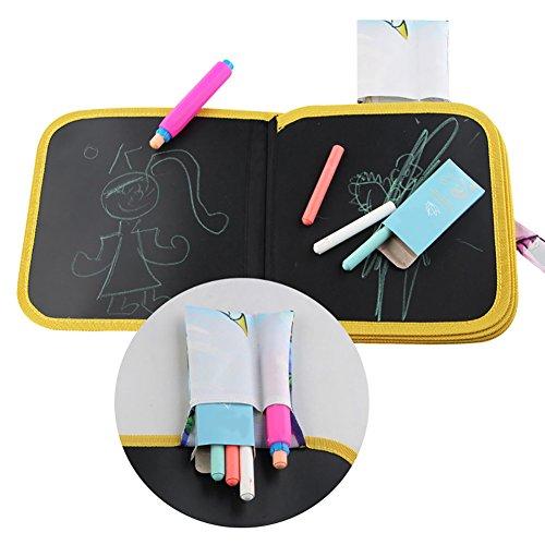 Doodle Dessin Jouets, Tapis de dessin de voyage, portable Planche à dessin jouet éducatif pour enfant avec 3 craies colorées pour enfants tout-petits enfants Early Educational Learning Dessin Graffiti (8.66 × 8.66 en)