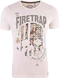 Firetrap Mens Original Designer T Shirt Sublimation Full Print Short Sleeve Tee Top